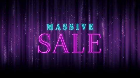 Animation of sparkling massive sale text 4k Animation