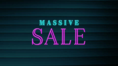 Animation of massive sale text sparkling 4k Animation