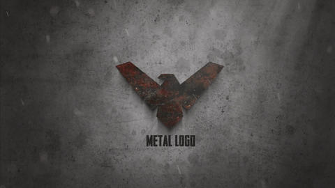 Metal Logo After Effects Template