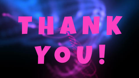 Thank you text in pink Animation
