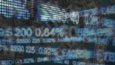 Digital composite of dollar bills Animation