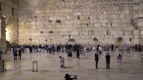Jerusalem, Israel - November 2019: Wailing Wall or Western Wall in Jerusalem Live Action