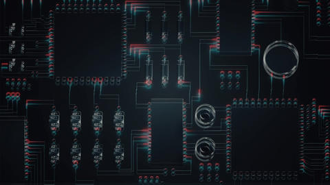 Animation of motherboard Animation