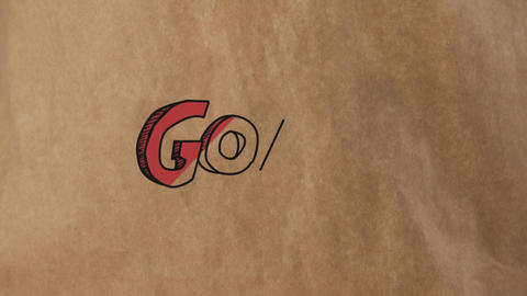 Goal written in big red letters Animation