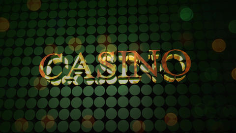 Word casino in three dimension font Animation