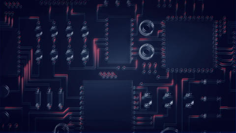 Purple motherboard moving Animation