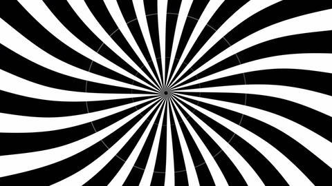 Animation of hypnotic spiral with blinking circle Animation