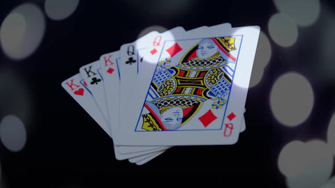 Combination of playing cards Animation