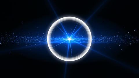 Animation of flashing white circle Animation