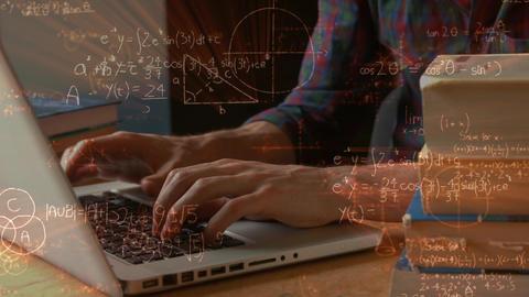 Man typing on laptop Animation