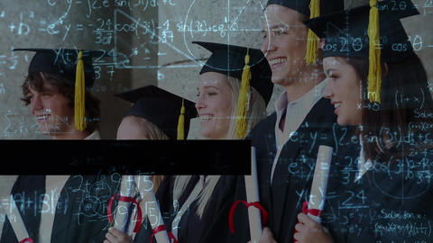 Digital composite of student ceremony Animation