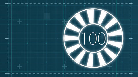 Circle percentage diagrams from 0 to 100 for web design Animation