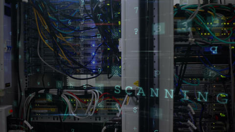 Data center cyber attack 4k Animation