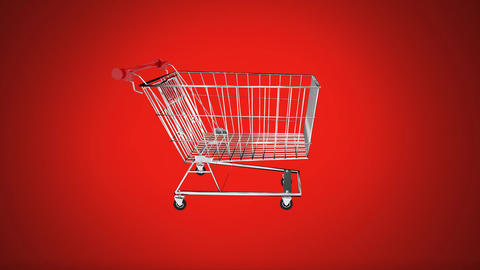 Spinning trolley Vector Animation