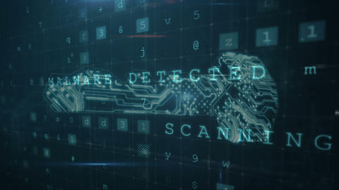 Decryption key used in cyber attack 4k Animation