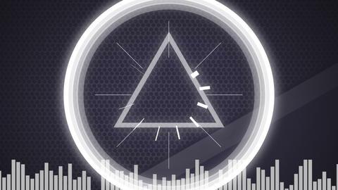 Techno triangle digital media 4k Animation