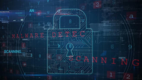 Cyber attack: digital security at risk 4k Animation
