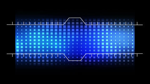 Digital frame opening on a blue disco background Animation