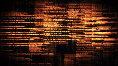 Digital composite of a series of digital codes and scripts Animation