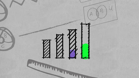 Business data graphs and diagrams Animation