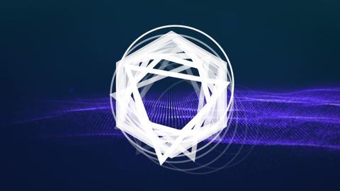 Animation of moving geometric shape Animation
