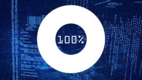 Downloading symbol on a data background CG動画