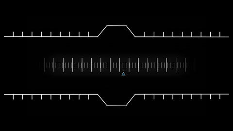 Digital composite of a moving measurement line Animation