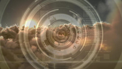 Digital composite of a focusing camera lens Animation