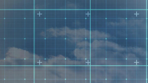 Digital composite of a grid Animation