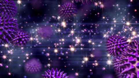 Animation of bacteria in falling Animation