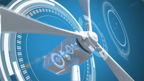 Digital composite of windmill turbine blade Animation