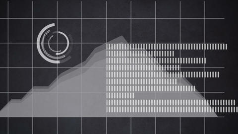Financial trend in a stacked area chart 4k Animation