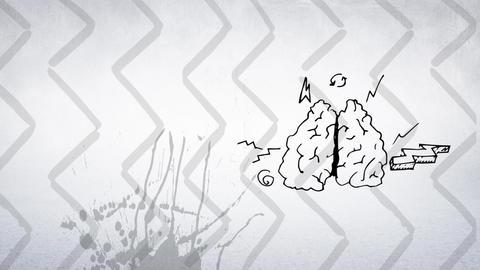 Digital animation of a thinking brain Animation