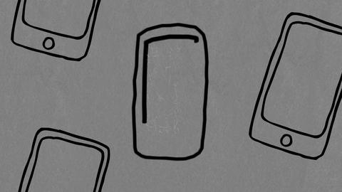 Distinct mobile phone Animation