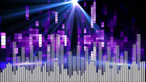 Artistic music visuals Animation