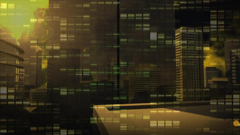 Digital composite of a cityscape Animation