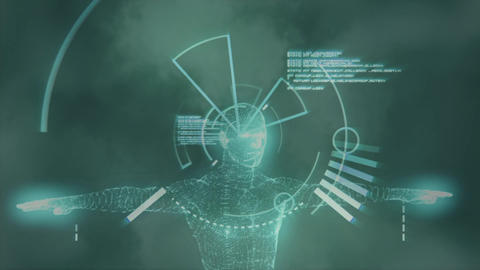 Digital composite of a focusing camera lens Animation