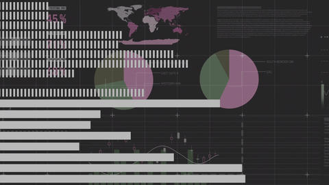 Digital composite of the world economic trend Animation