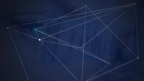 Asymmetrical lines in blue background Animation