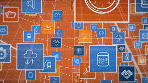 Icons of digital applications Animation