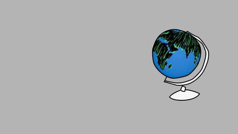 Globe design in a light bulb Animation