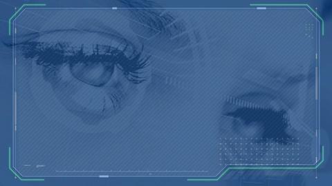 Female eyes focused Animation