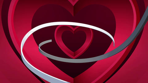 White strings and hearts Animation