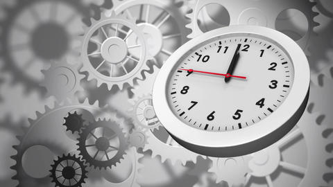 Gears and clock Animation