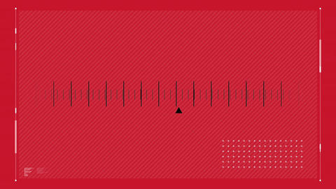 Radio station cursor scrolling on a red background Animation
