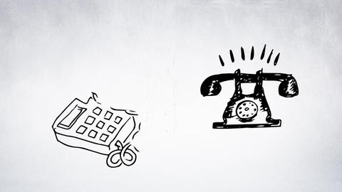 The evolution of the telephone Animation