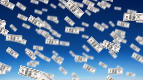 Dollar bills Animation