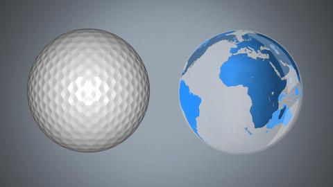 Earth and golf ball Animation