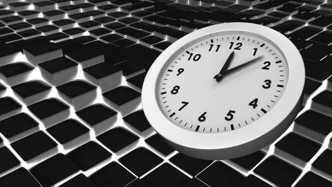White clock Animation