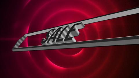 Digital composite of the word SALE Animation